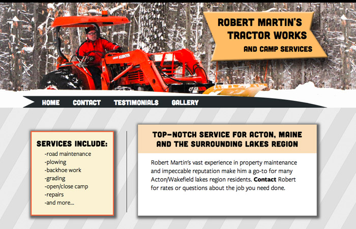 Wilson Lake Tractor Works website